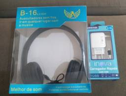 Headphone + carregador