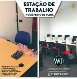 Título do anúncio: ENDEREÇO COMERCIAL + ESTAÇÃO DE TRABALHO