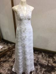 Vestido de noiva bordado boho