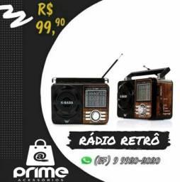 Rádio Retrô Pendrive cartão de memória e Rádio