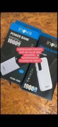 CARREGADOR PORTÁTIL POWER BANK 10000 mlp INOVA