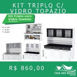 Kit triplo c/ vidro topázio kit triplo c/vidro topázio