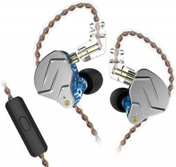 Fone de ouvido kz zsn pro retorno monitor de palco hibrido (novo e lacrado)