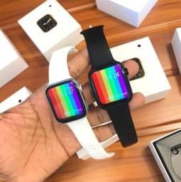 Relógio Inteligente Smartwatch W26 Faz ligações Atende Chamadas Notificações Zap Face