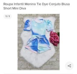 Conjunto infantil Tie Dye novo, nunca usado