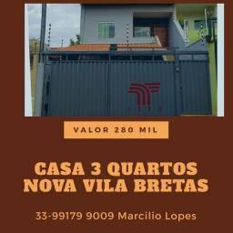 Casa baixa 3 quartos Nova Vila Bretas