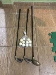 3 Tacos de Golf + 10 bolinhas - usado