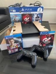 PS4 Slim 1Tb + 2 Jogos Completo