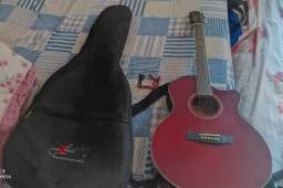 Violão Giannini Elétrico vermelho