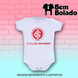Body infantil Internacional Colorado time futebol manga curta