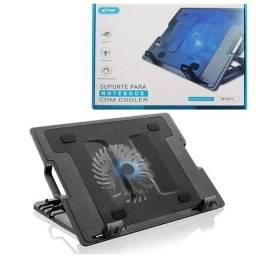 """Base Cooler Com Suporte Para Notebook 17"""" - Kp-9013 - Rf Informatica"""