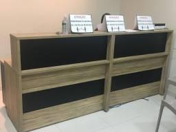 Balcão para recepção 1,20cm largura x 60cm comp. x 1,11 altura