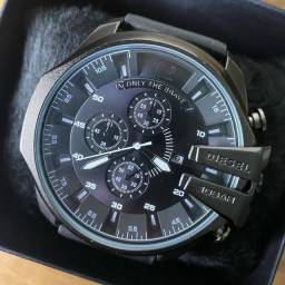 Relógio masculino Diesel pulseira de couro