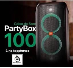 Caixa bluetooth jbl partybox 100, lacrada modelo novo.
