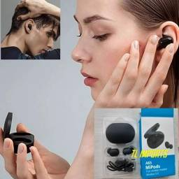 Fone De Ouvido Sem Fio Bluetooth Preto Mipods iPhone Android