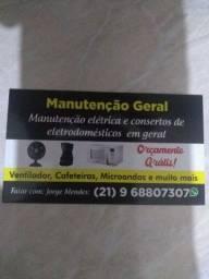Manutenção elétrica e serviços de consertos de eletrodomésticos