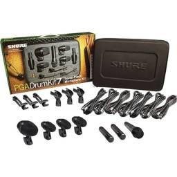 Título do anúncio: Microfone Dinâmico Shure Pga Drum Kit 7 Peças Para Bateria