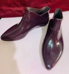 ankle boot melissa making - roxa tamanho 38 bota