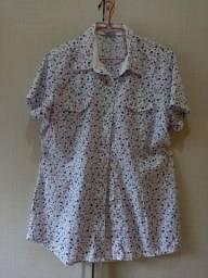 Blusa 100% algodão, estilo chamise e linda..