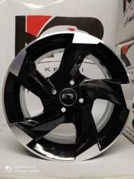 Jogo de rodas audi aro 15 4x100 marca KRmai modelo K60 nova