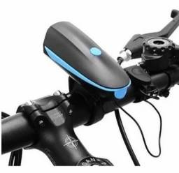Farol de bike bicicleta + buzina Recarregável USB o
