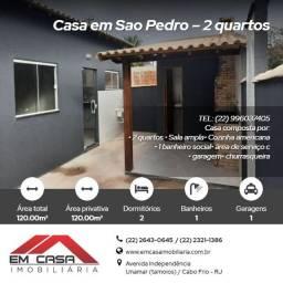 Lj@#- Magnífica Casa em São Pedro com2 quartos<br>