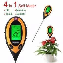 Medidor Digital 4x1 ,ph solo plantas, intensidade luminosa, umidade, termômetro