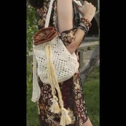 Bolsa mochilinha crochê