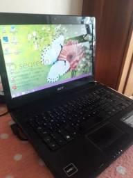 Notebook acer, hd 320gb, memoria 4gb, amd c-60, funcionando na tomada!!