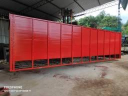 Máquinas para café e gaiolas para transporta  boi