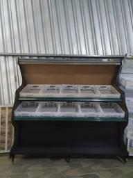 Banca frutas e legumes Cristal Aço seminova 10cxs Frete Grátis