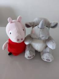 Peppa Pig Pelúcia - Estrela + Rinoceronte Pelúcia