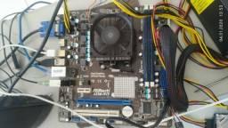 Kit AMD Asrock A55M-HVS + Processador A6 3670 + 4 Gb de memória DDR3