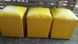 Vendo 3 Puff amarelo pronta entrega entrego com taixa
