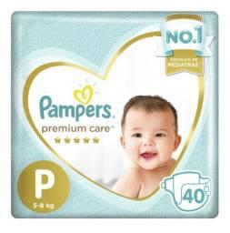 Fralda Pampers Premium P e M