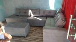 Sofá grandão de canto super confortável