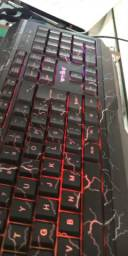 Teclado gamer choque led