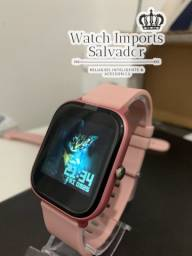 Lindo relógio P8 rosa para mulheres relógio SmartWatch