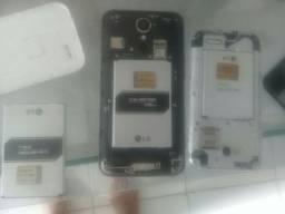 Vendo 2 celulares Lg para reposição de peças + 1 bateria