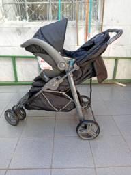 Carrinho de Bebê Cross Galzerano + Bebê conforto + Base