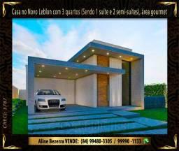Excelente casa no Novo Leblon com móvel projetado, 3 quartos, área gourmet