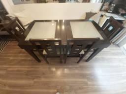 Mesa Elastica com 6 cadeiras