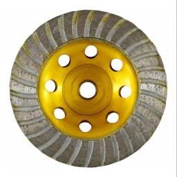 02 Discos Rebolo Diamantado Desbaste 4.1/2 100x22,30 Tnt C/02pçs