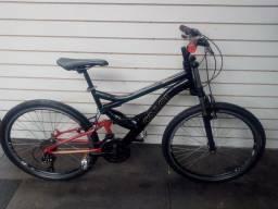 Bicicleta Caloi aro 26 Full Suspension 21 marchas Seminova