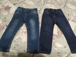 2 calças jeans e 1 bermuda de sarja Tam 2