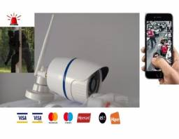 Câmera Segurança IP Externa Wifi, Visão Noturna Prova d'água, Android, Iphone Wi-fi