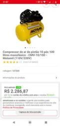 Compressor de ar 10pes 100litros