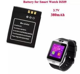 Bateria 380mah relógio celular DZ-09 smartwatch