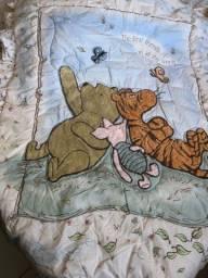 Edredom para berço Classic Pooh importado dupla face