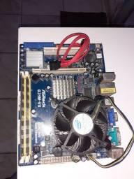 Placa mãe asrock g31m-vs ddr2 / 4gb ram / Intel core2 duo 2.97ghz